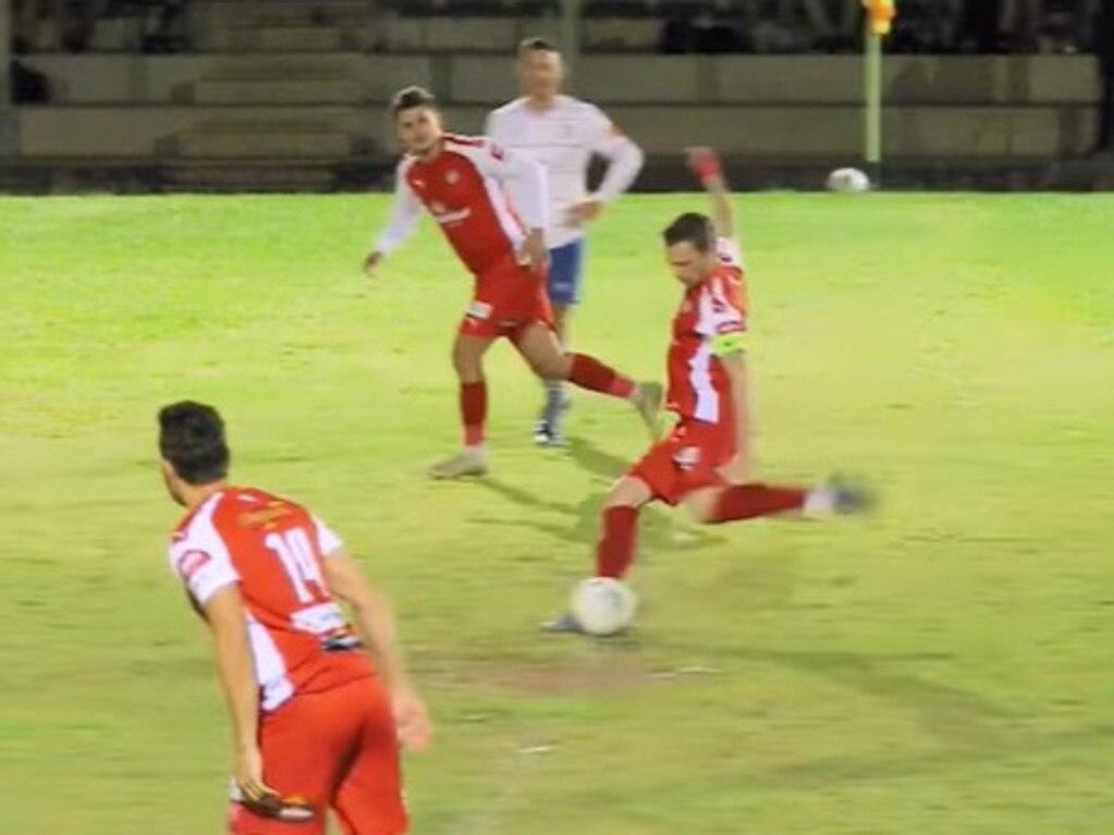 RawSource Creative Studio shot this footage of Nambour Yandina's Alex Barlow scoring from the kick-off.