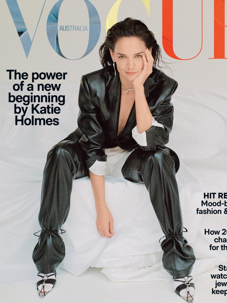 The November issue of Vogue features Katie Holmes on the cover. Picture: Vogue Australia