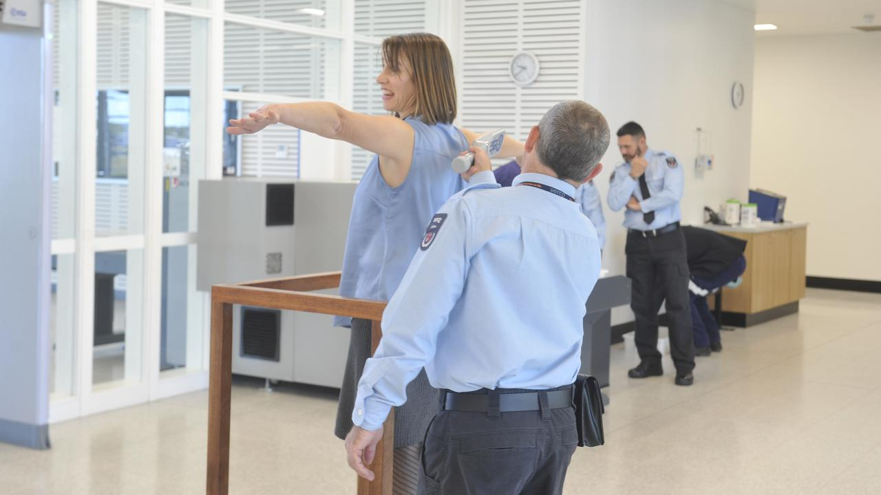 Security checks inside the the Clarence Correctional Centre at Lavadia. New Grafton jail.