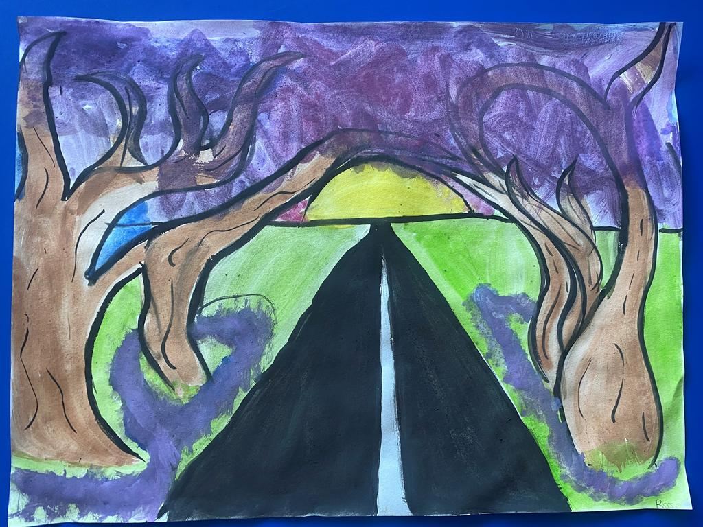 St Joseph's Primary School, South Grafton students got creative to celebrate the jacaranda season with some artwork.