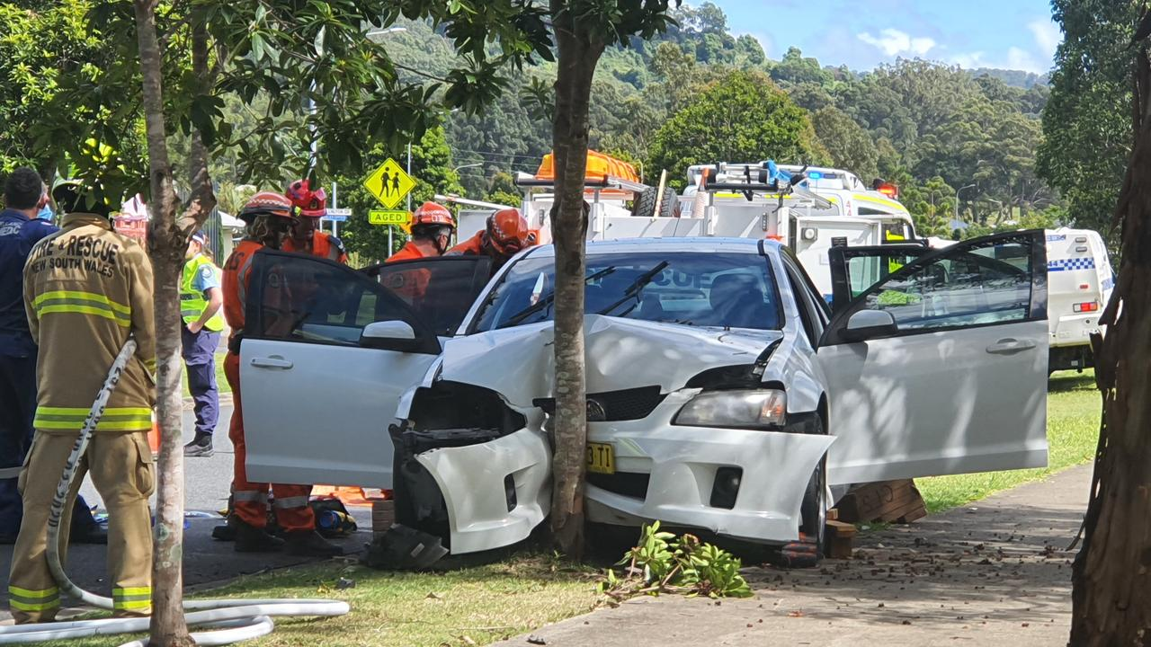 Emergency services were called to a crash at Lakes Estate last week. Photo by Frank Redward.