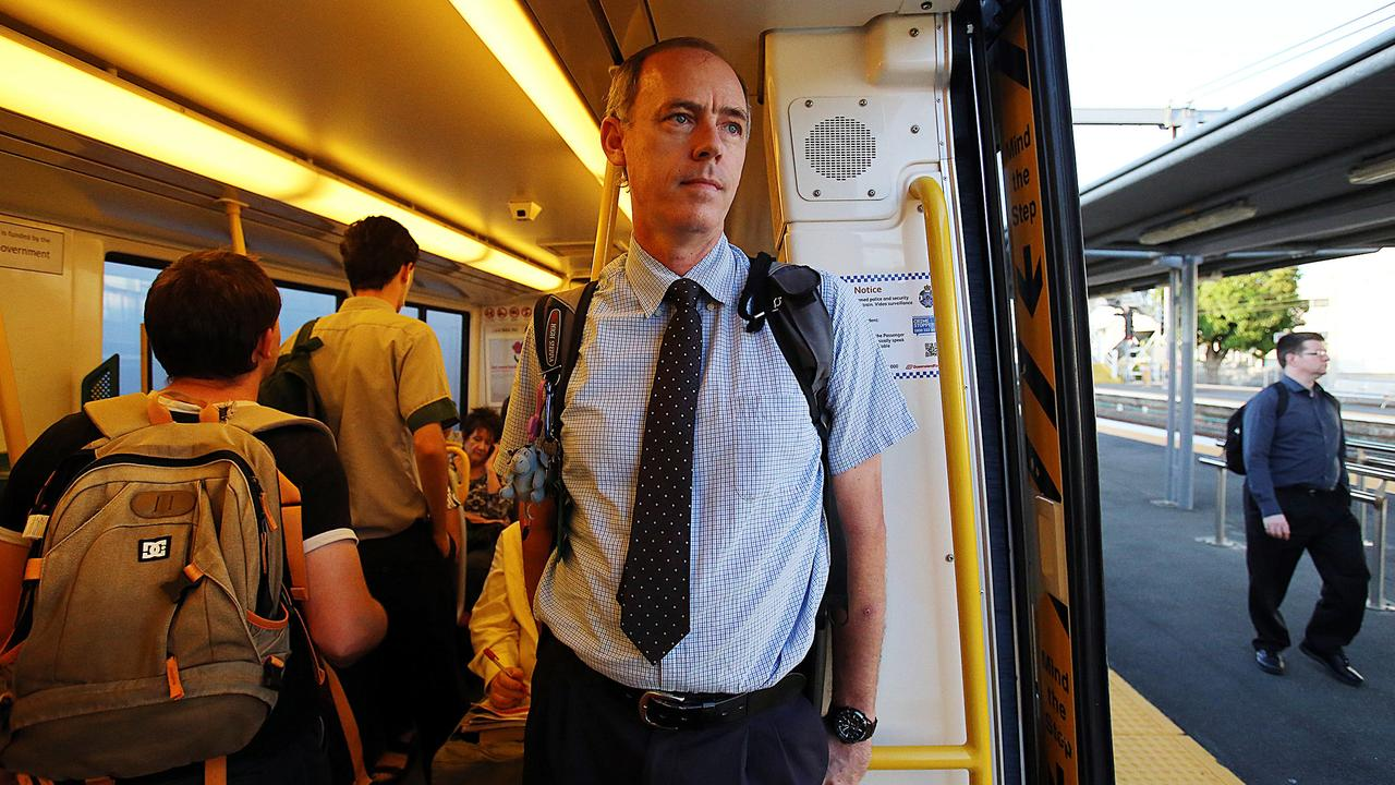Jeff Addison during his long hall commute from Brisbane to Palmwoods back in 2015. Picture: Marc Robertson