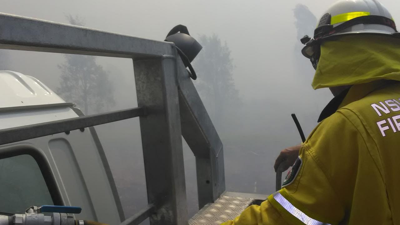 UNDER CONTROL – Meerschaum Vale Rural Fire Service brigade was called to a bush fire on the Tuckean Swamp on Saturday November 16, 2020. Photo: Meerschaum Vale RFS