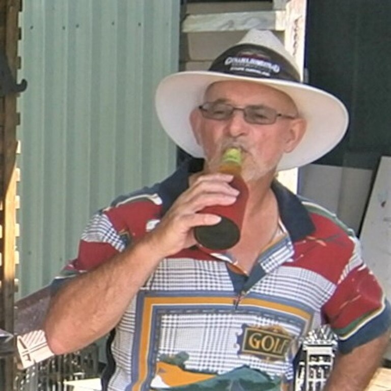 Andrew Warden enjoys a refreshing ale.