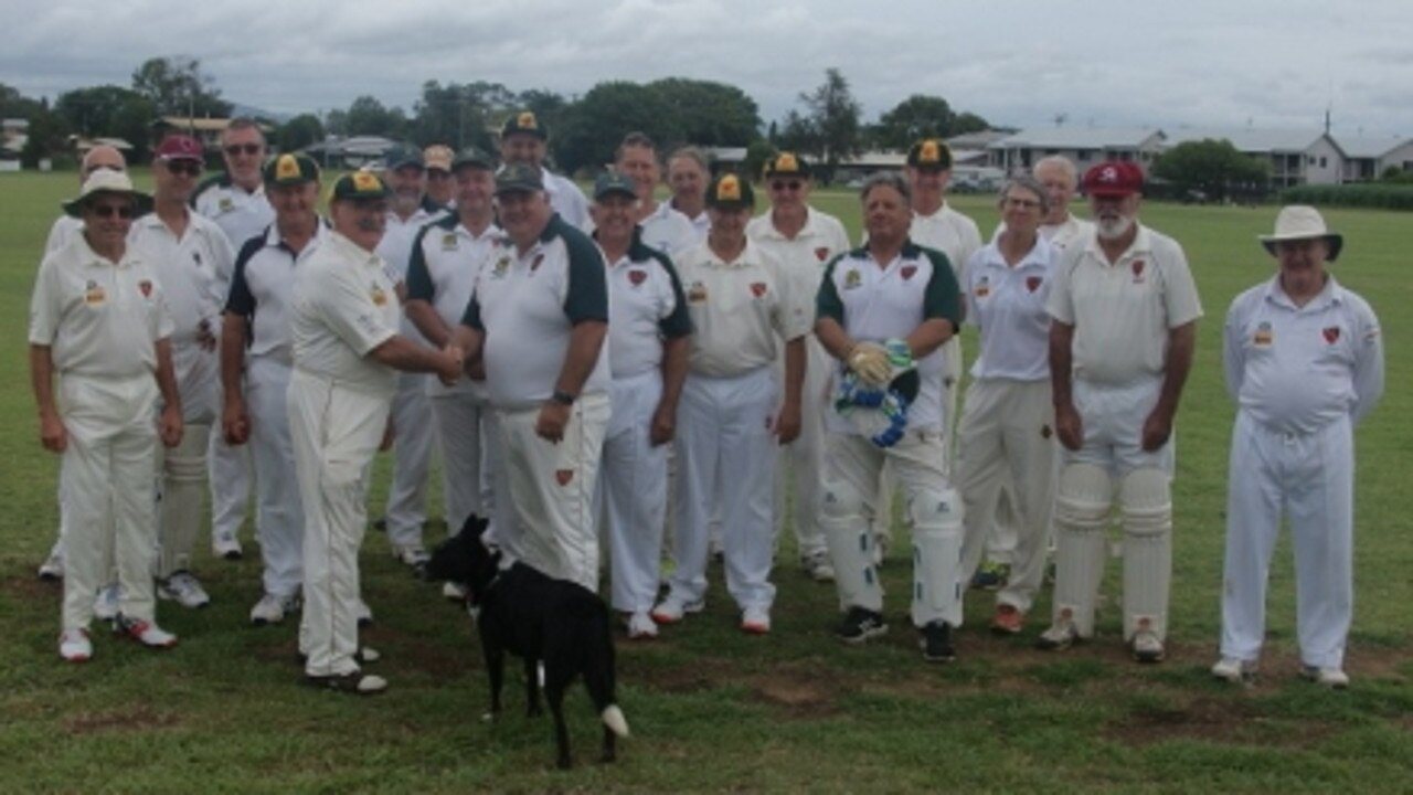 The Lockyer/Ipswich Over 60s playing group, with co-ordinators Mike Nowlan and Darion Parise.