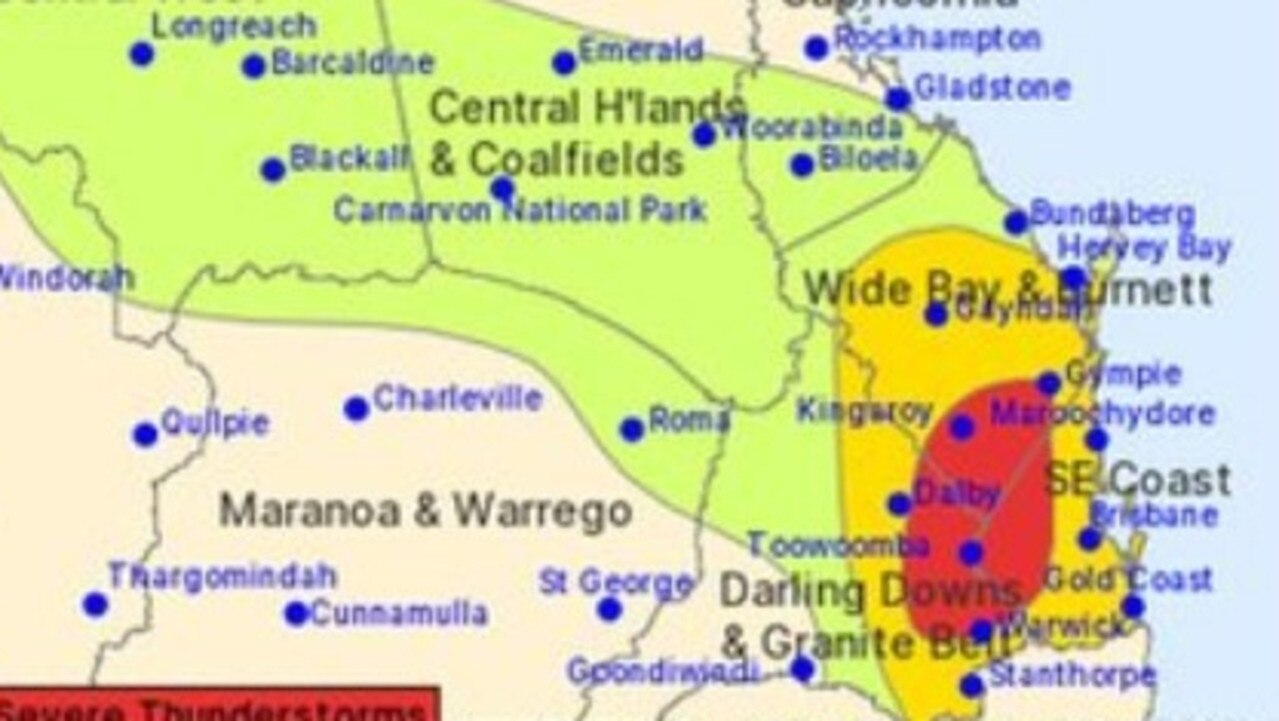 Potentially severe thunderstorms have been forecast for the Sunshine Coast on Tuesday afternoon, warn the Bureau of Meteorology.