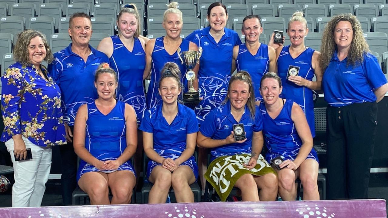 The 2020 Queensland Premier League SEQ Cup champions, Goodna Sapphires.