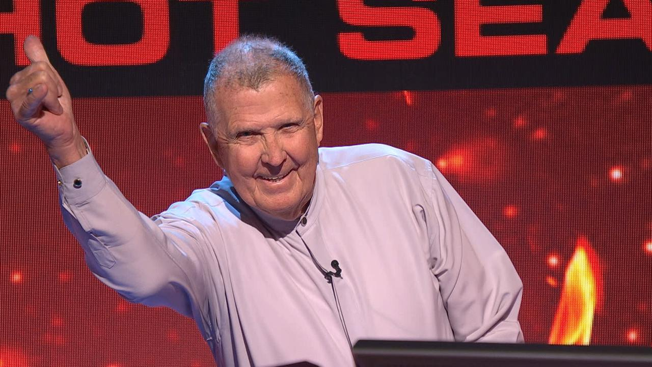 Coast Great-grandad Ivan Conway on Millionaire Hot Seat. Photo: Channel 9