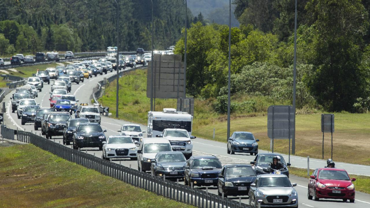 Traffic is delayed near the Johnston Rd exit. Picture: File