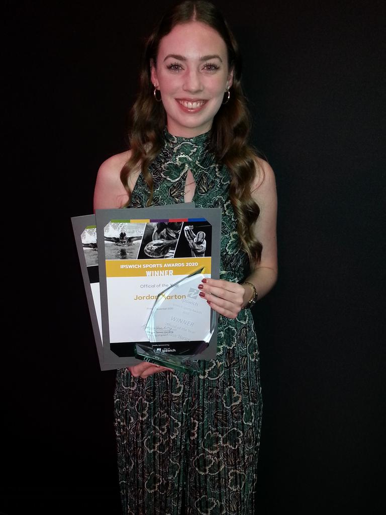 Delighted 2020 Ipswich Sports Awards Official of the Year Jordan Harton. Picture: David Lems
