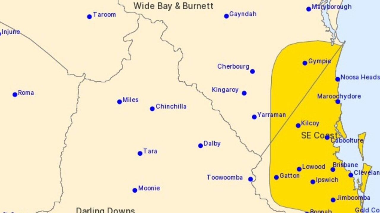 Gympie storm warning BOM
