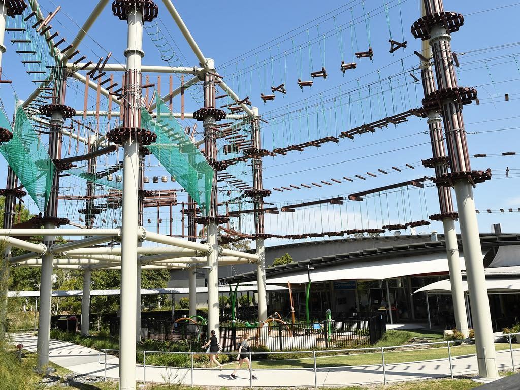 Next Level's high ropes course at Sunshine Plaza will open on November 27 at 9am Photo Patrick Woods