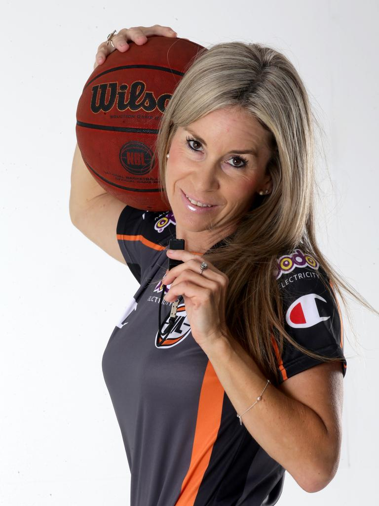 Ipswich-bred international basketballer referee Toni Caldwell. Picture: Anna Rogers