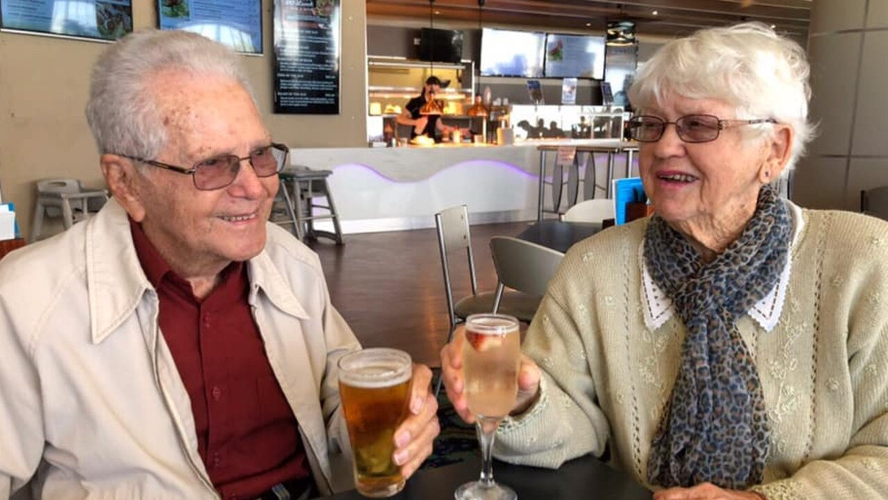 MUCH-LOVED: Kevin Aspland passed away on Friday, November 13. He and wife Eileen would've been married 70 years in December.