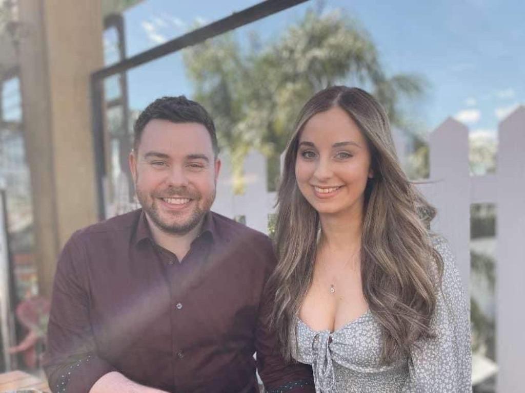 Celeste Manno and her boyfriend Chris Risdale.