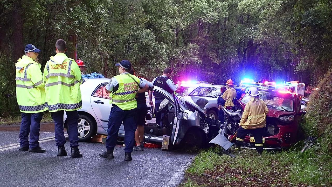 Three people were hospitalised following a crash at Upper Orara on October 27.