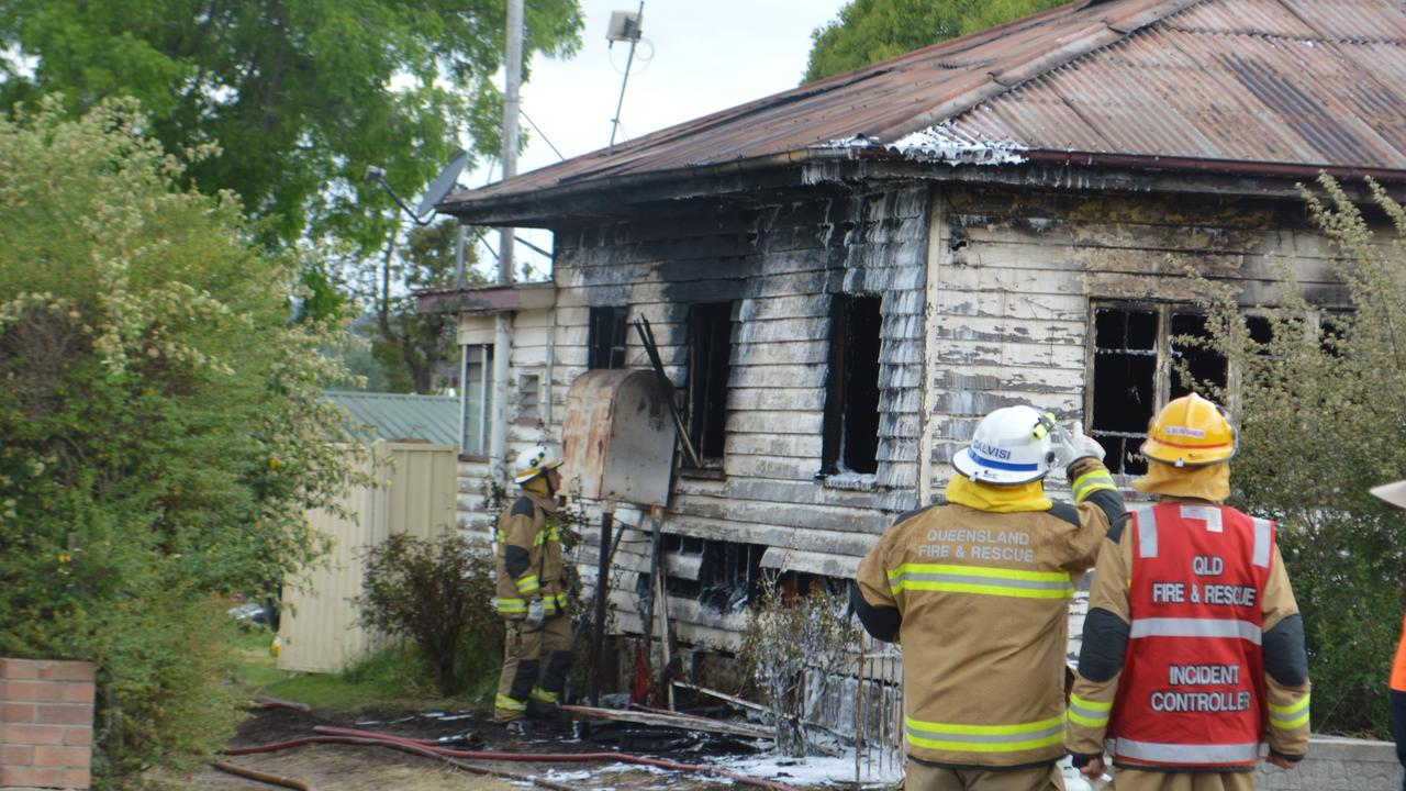 Hillcrest St house destroyed by fire this afternoon.