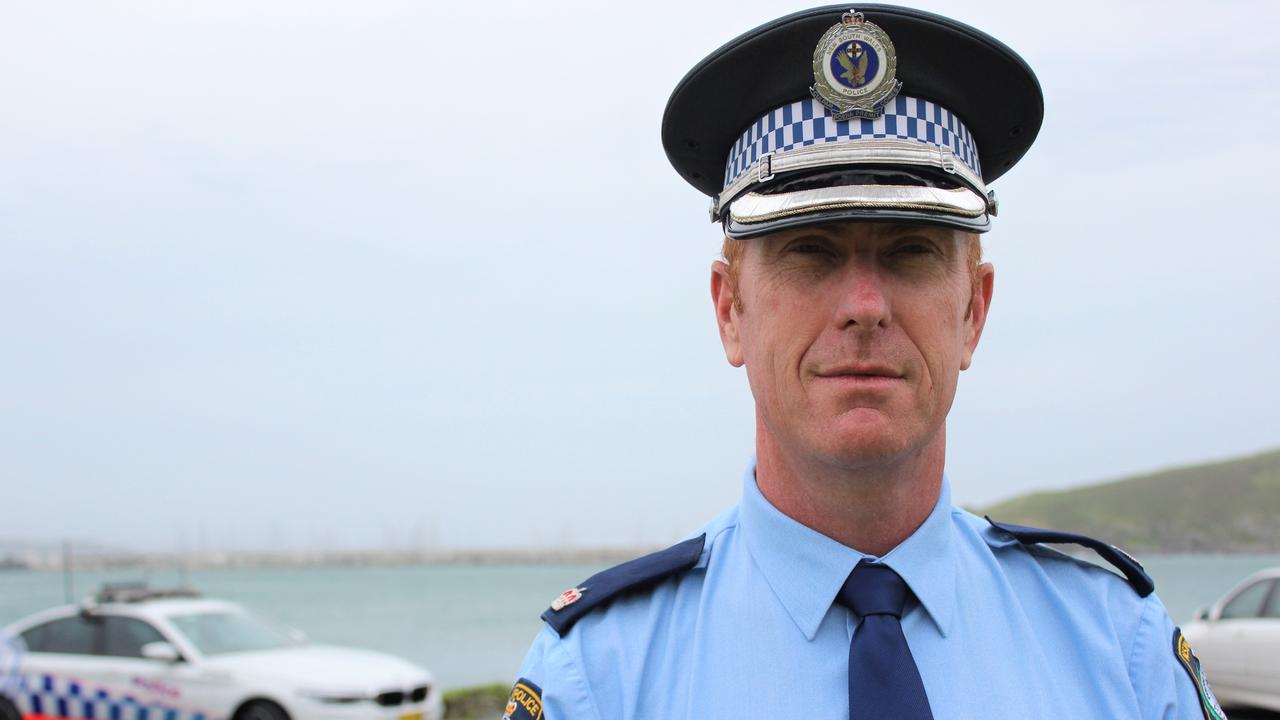 Acting Superintendent Brendan Gorman of the Coffs/Clarence Police is urging drivers to obey the law and drive to conditions. Photo: Tim Jarrett