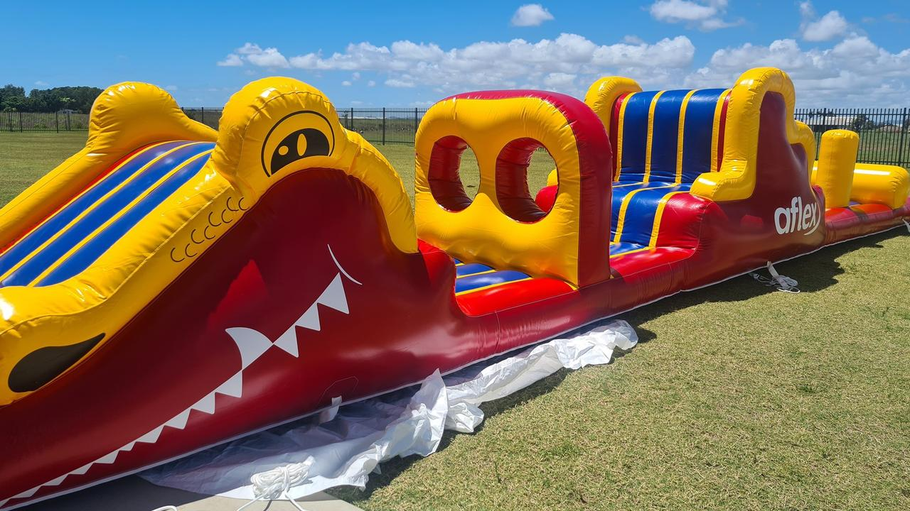 The 'Croc Drop' giant inflatable that will be at the Mackay ARC this Sunday. Picture: Mackay Aquatic and Recreation Complex