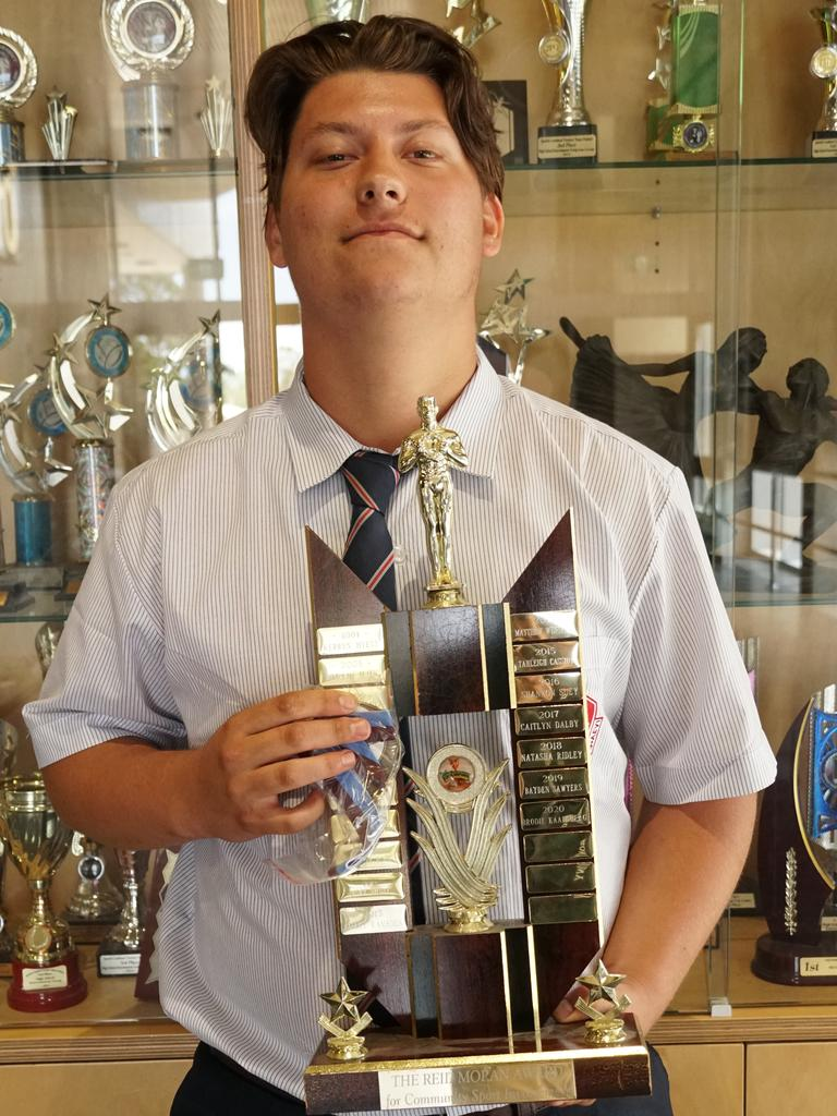 Dedicated Ipswich State High student Brodie Kaarsberg was recognised for his multiple efforts during 2020.