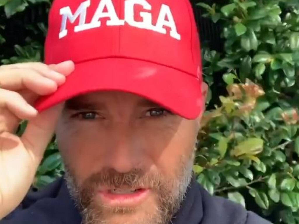 In a Facebook rant, the MAGA-loving chef said wearing a mask was a sign of weakness. Picture: Facebook