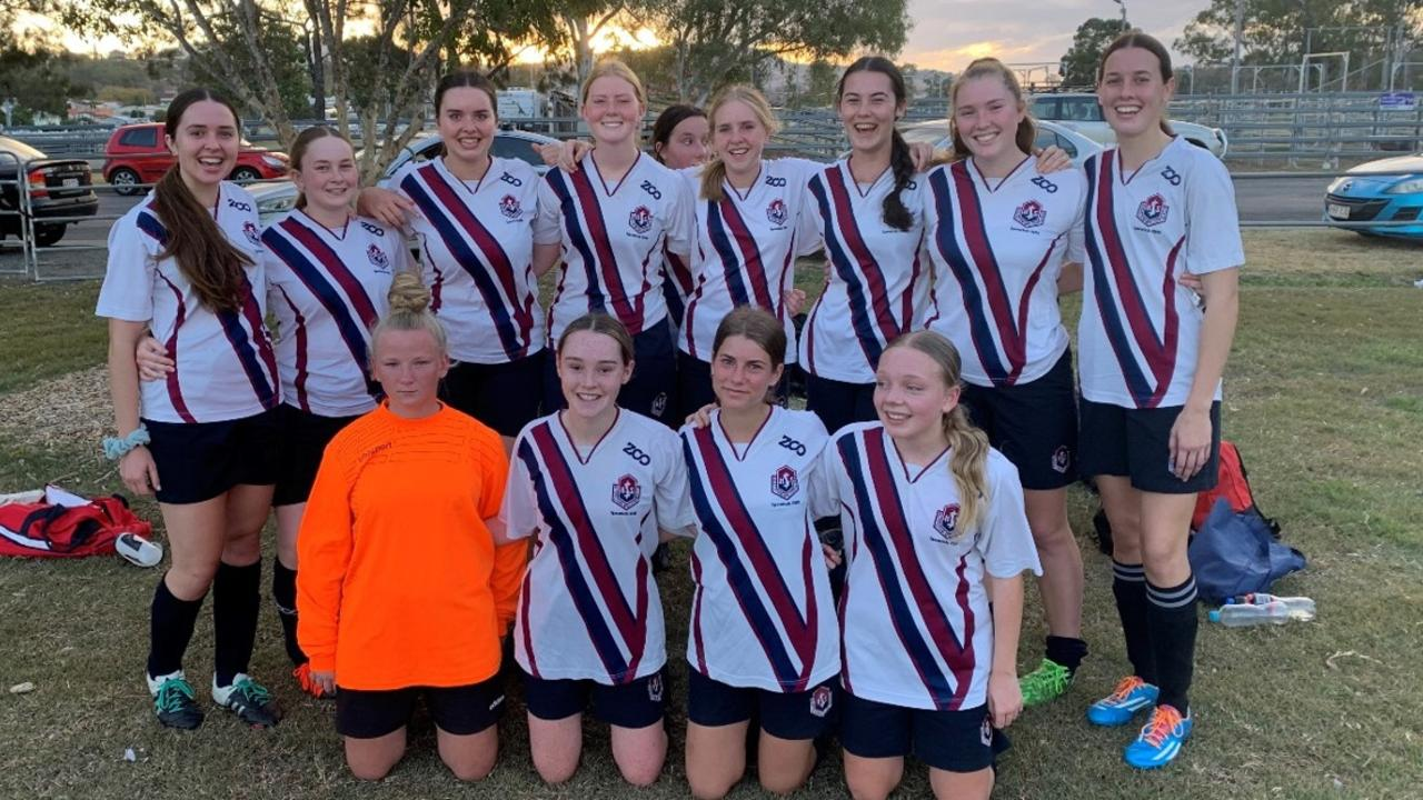 The Ipswich State High open girls soccer team that displayed amazing courage and commitment in 2020.