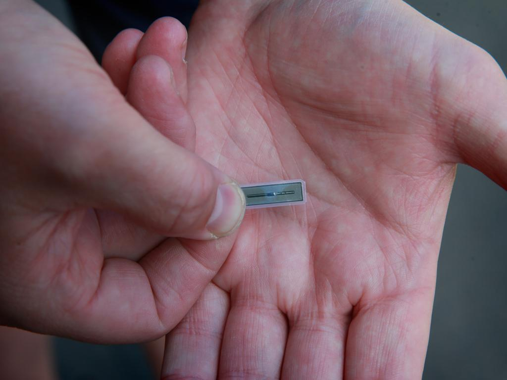 A report by financial software company FIS found that 17 per cent of Australians were interested in having a chip implanted in their finger to make cash transactions easier. Picture: Supplied