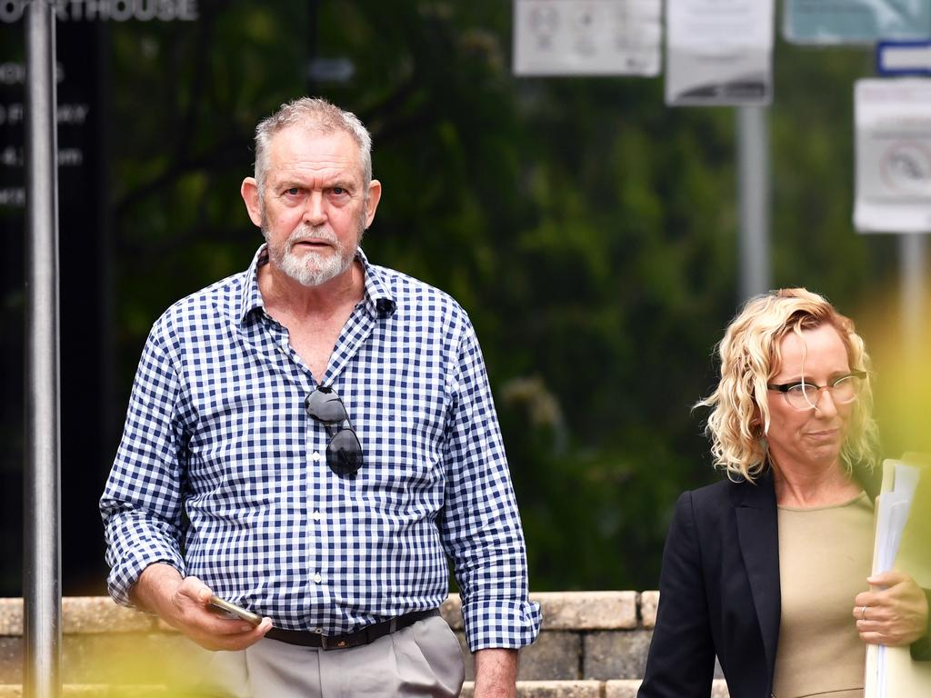 Frank Shipp leaves Caloundra Magistrates Court. Picture: Patrick Woods