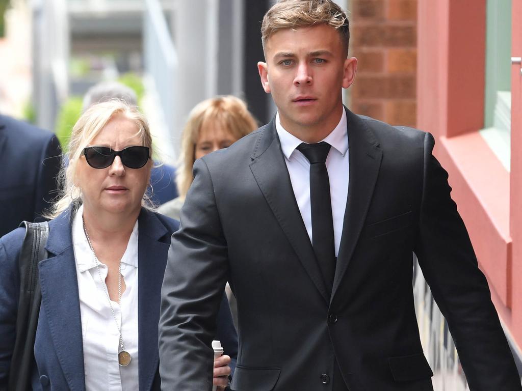 Callan Sinclair arrives at Wollongong Court House. Picture: NCA NewsWire / Simon Bullard.