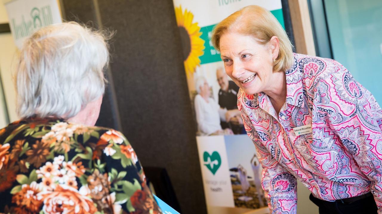 FREE ADVICE: Dementia Australia educator Deborah McLachlan assists a client.