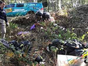 Grub fined $2100 for dumping his rubbish in nature reserve
