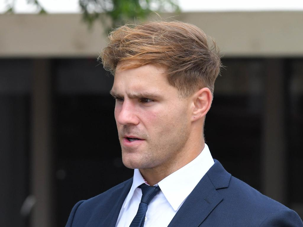 NRL player Jack de Belin arrives at Wollongong Courthouse. Picture: NCA NewsWire/Simon Bullard