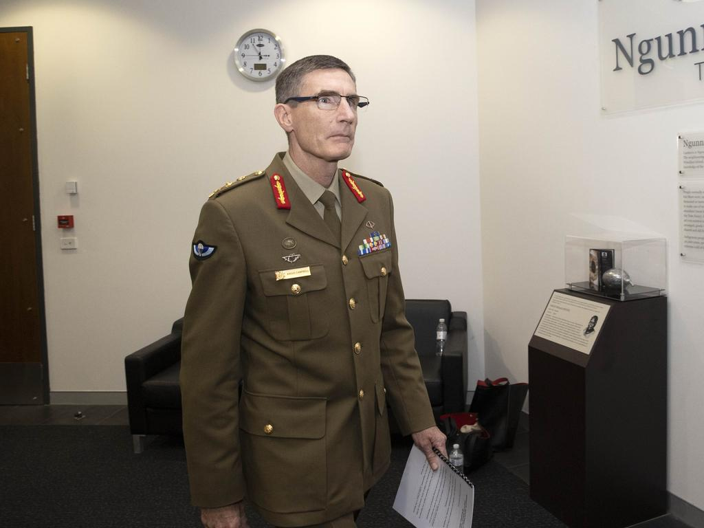 "Chief of the Defence Force, General Angus Campbell, offered a ""sincere apology"" to the people of Afghanistan. Picture: NCA NewsWire /Gary Ramage"
