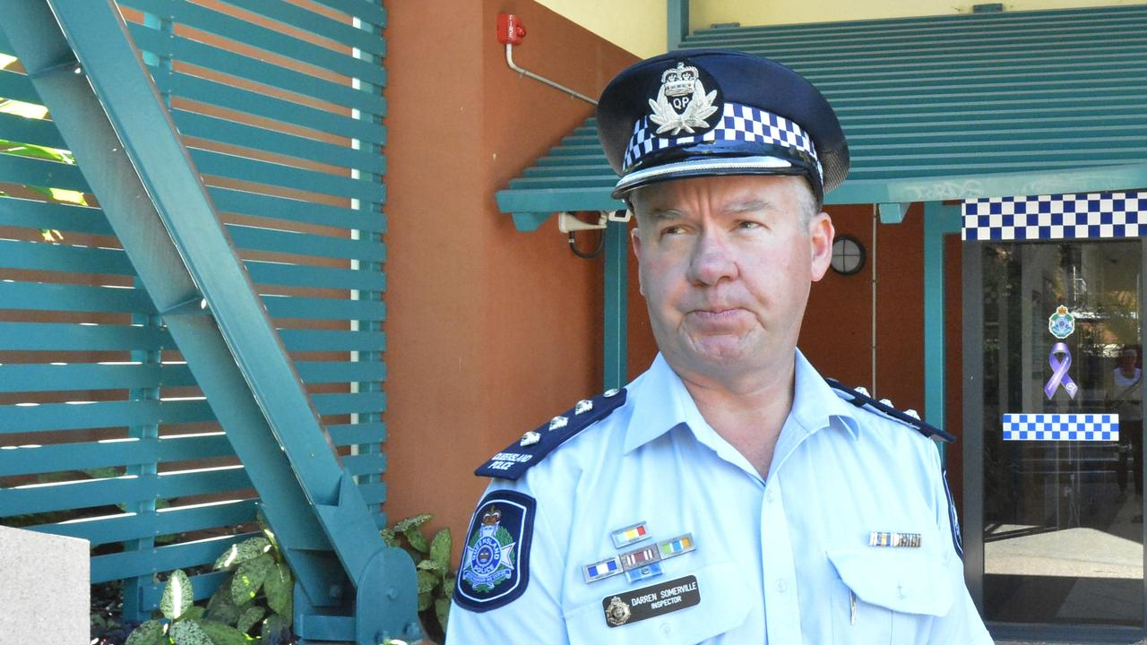 Gladstone Patrol inspector Darren Somerville appeals for information about a hit and run accident where a man was found dead in the middle of Red Rover Rd on Sunday August 25.