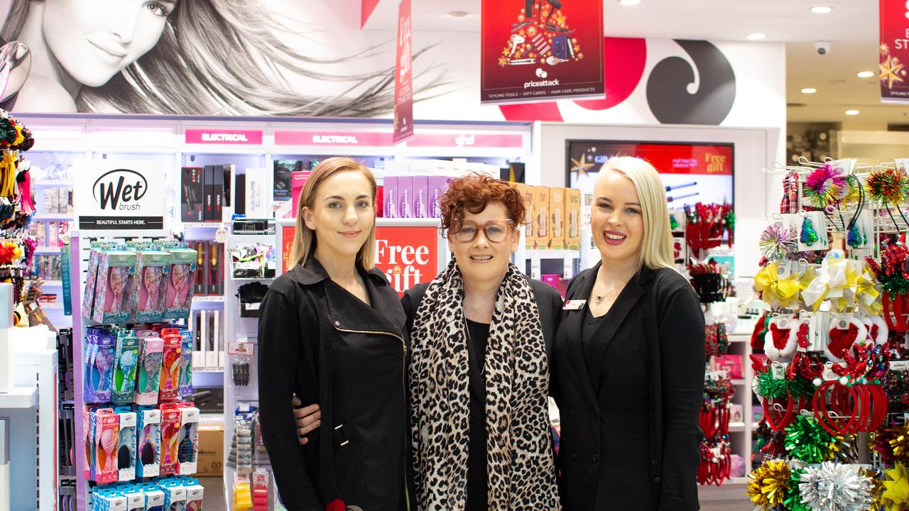 Ali Barker, Janelle McManus & Jade Salomon are ready to celebrate 15 years of Price Attack in Toowoomba