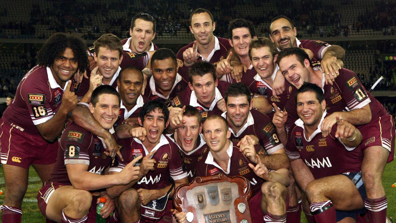 Carl Webb, FOG No. 124, pictured with the 2006 Queensland State of Origin team.