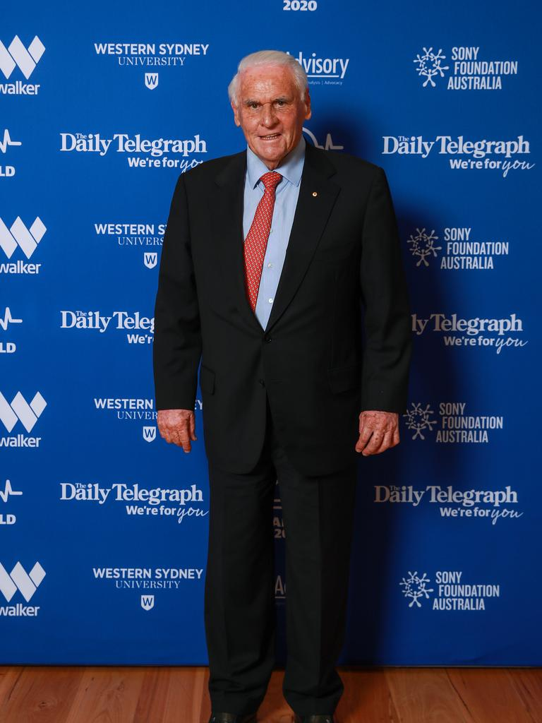 Lang Walker AO, at the Bradfield 2020 Luncheon. Picture: Justin Lloyd