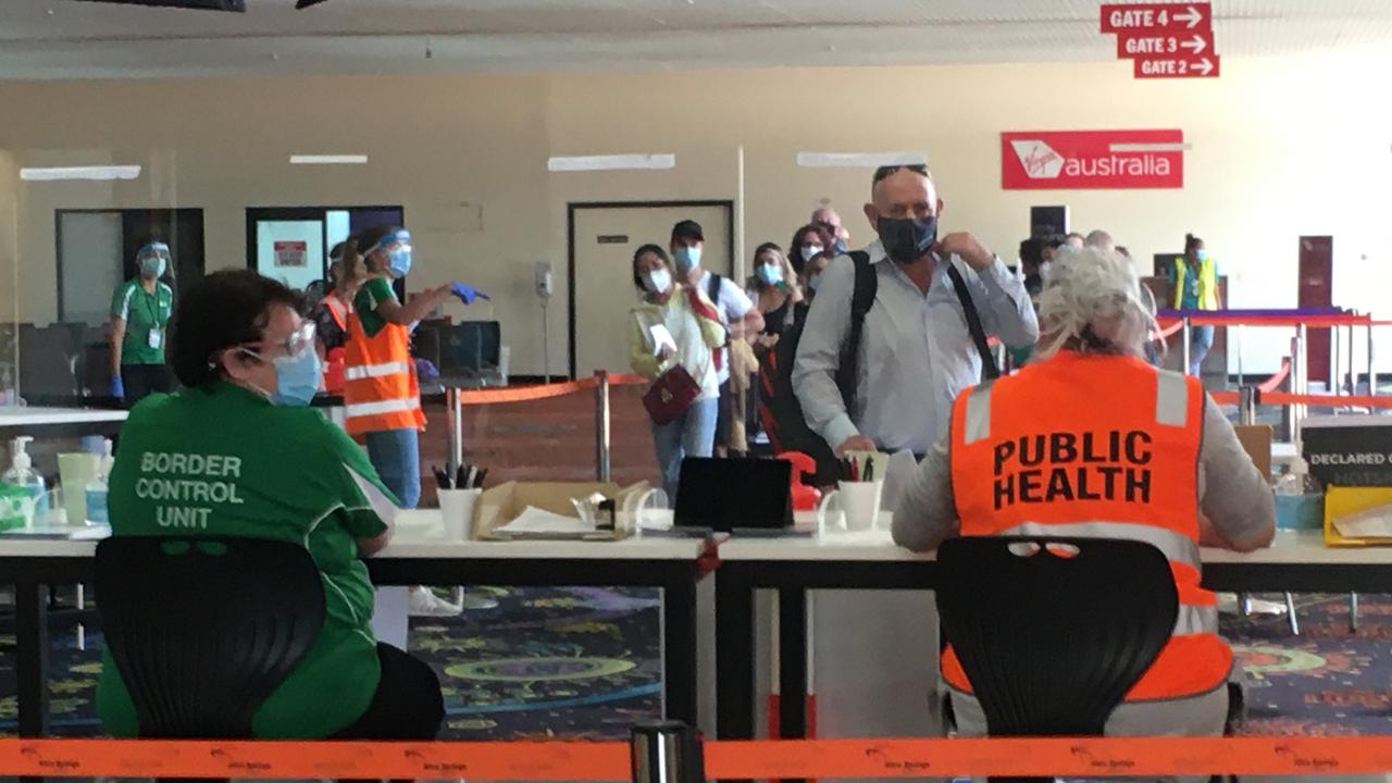 About 300 travellers have arrived from South Australia in Alice Springs in the last two days.