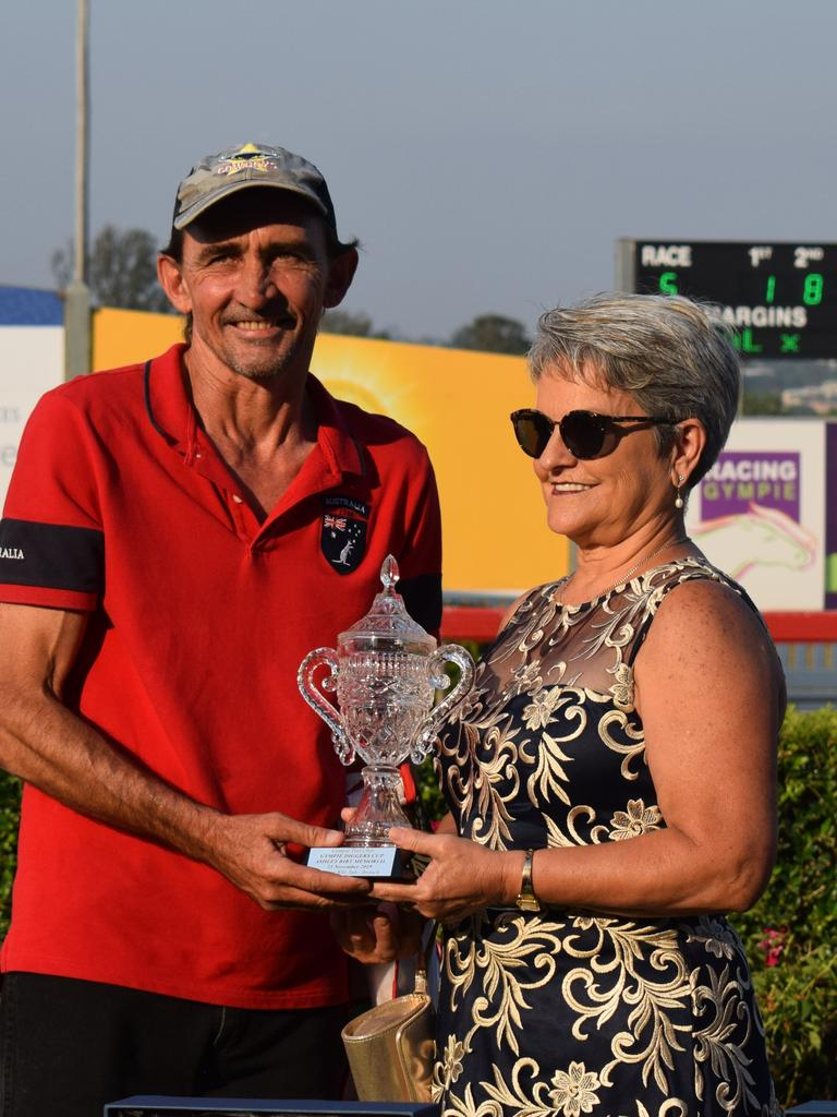 RSLA Diggers Cup Day 2019 - Shinnecock owner Darren Gough and Linda Burke.