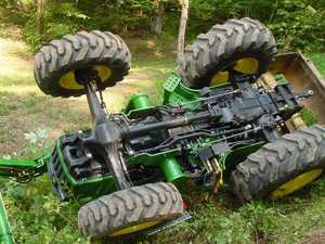 Elderly man injured in tractor rollover