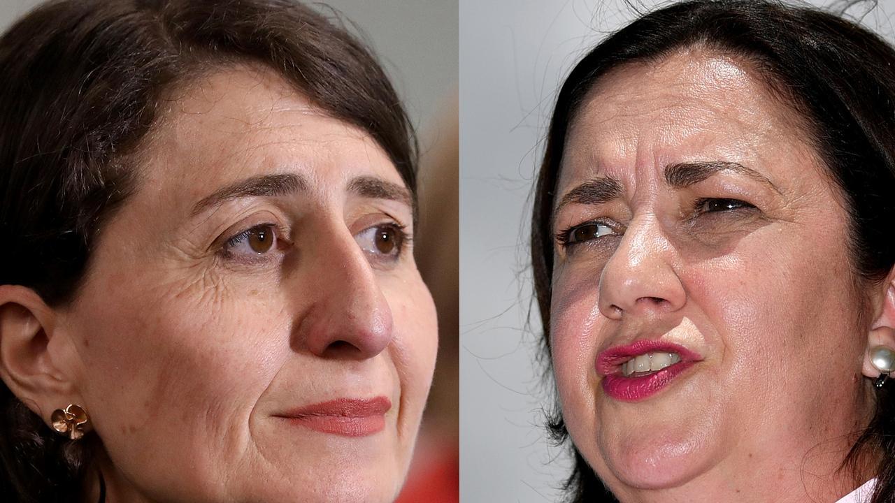 Composite image of Gladys Berejiklian and Annastacia Palaszczuk