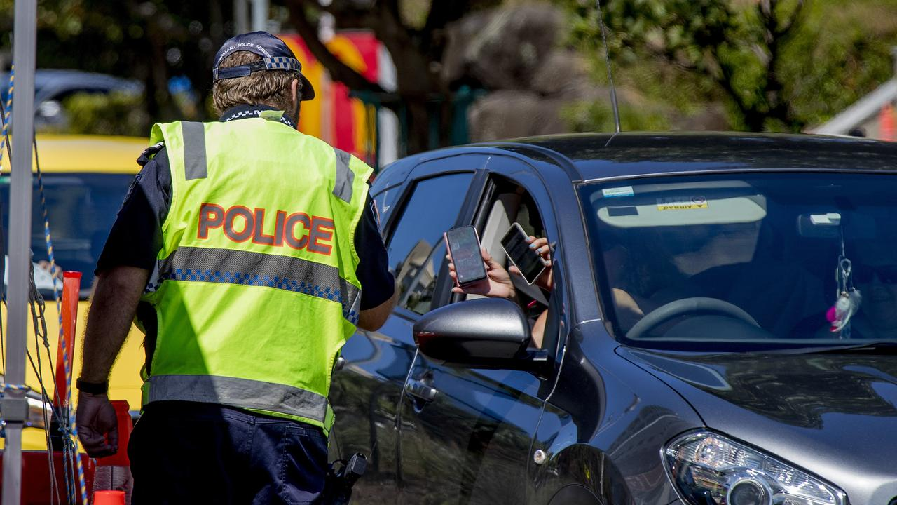 The Queensland Police continue to patrol the state's borders with New South Wales. . Picture: Jerad Williams