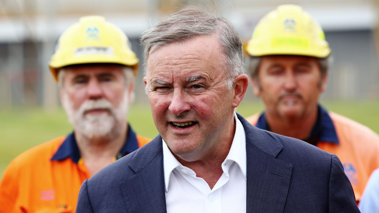 Anthony Albanese visiting the Hunter Valley. Picture: Toby Zerna