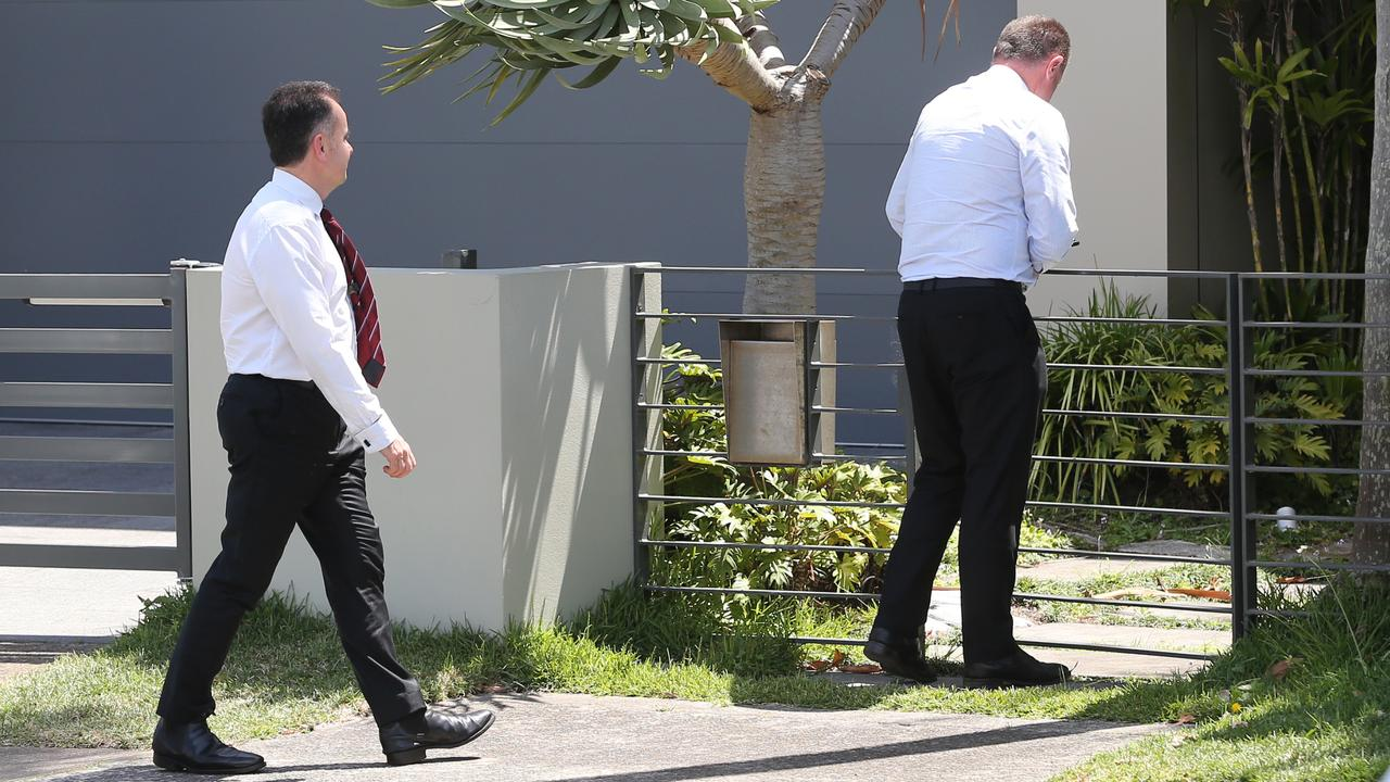 Detectives reinterviewed Anthony Koletti at the Dover Heights home on Thursday. Picture: Richard Dobson