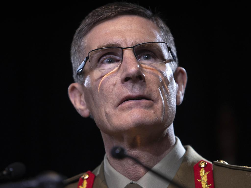 "ADF Chief General Angus Campbell said he ""sincerely and unreservedly"" apologised ""for any wrongdoing by Australian soldiers. Picture: NCA NewsWire /Gary Ramage"