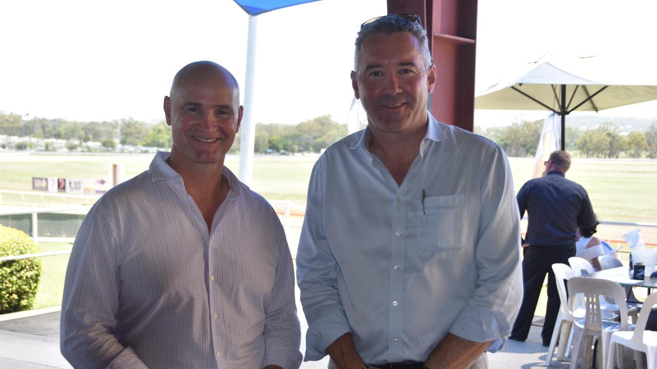Glenn Butcher MP and Brendan Parnell.