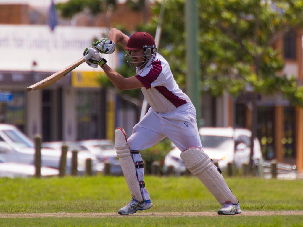 Andrew Ellis pictured batting for Urunga in the game against Plantation Diggers at Brelsford Park, Coffs Harbour in 2015. Ellis made the move to the Clarence River Cricket Association when he signed for Coutts Crossing midway through the 2019/20 season. Ellis joined Tucabia Copmanhurst in 2020/21 when Coutts Crossing withdrew from the GDSC Premier League grade. Photo Gemima Harvey/Coffs Coast Adv