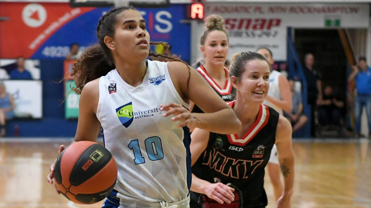 Akaysha Muggeridge and her Rockhampton Cyclones teammates will take on Gladstone in the semi-final of the ConocoPhillips CQ Cup on Saturday night. Photo: Jann Houley