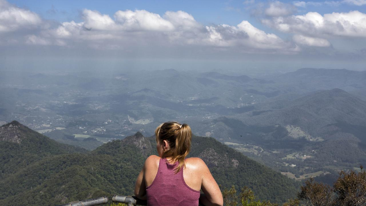 Hikers have long loved the spectacular views from the top of Mount Warning (Wollumbin). Picture: Natalie Grono.