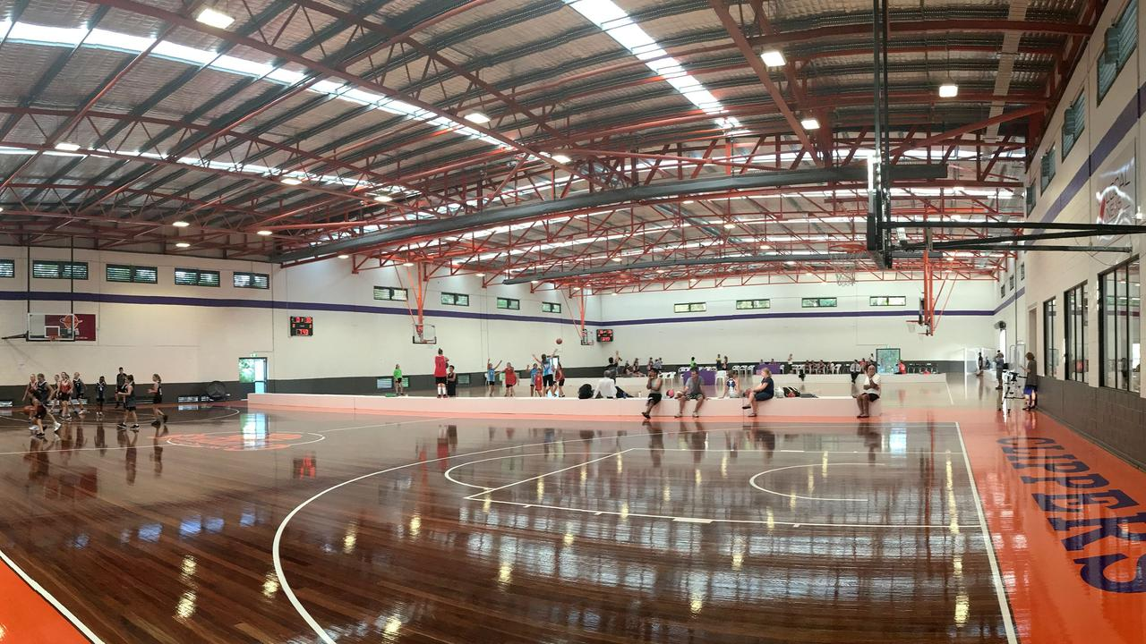 EXPANSIVE: The three courts at Maroochydore Basketball Stadium.